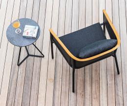 Exklusiver Oasiq Riad Designer Lounge Gartenstuhl Aluminium Gestell