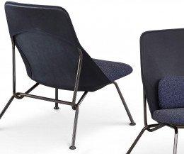 Moderner Prostoria Designer Sessel Strain Blau in Detailansicht