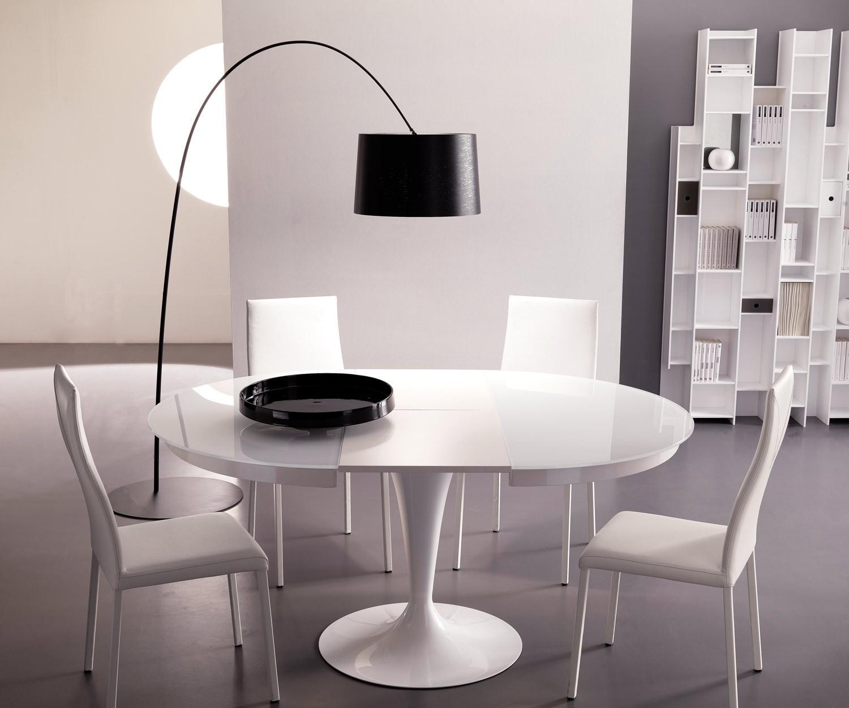 Ozzio Design runder ausziehbarer Tisch Eclipse T310