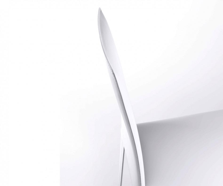 Novamobili Design Stuhl Flip weisser regenerierter Lederbezug