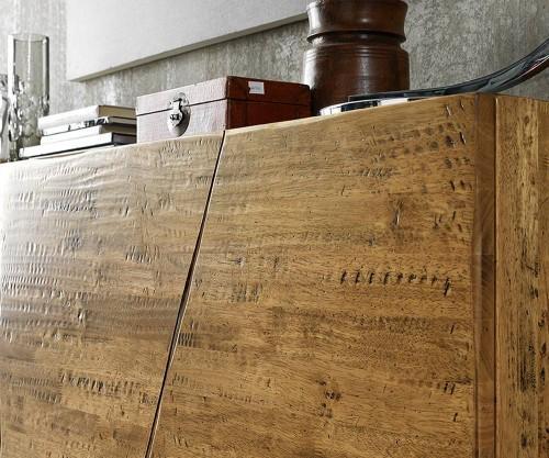 FGF Mobili Massivholz Sideboard Maserung natuerlich