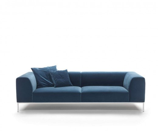 Exklusives Marelli New York Samt Design Sofa In Blau