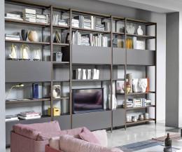 Wohnzimmer Regalsystem nach Wunsch