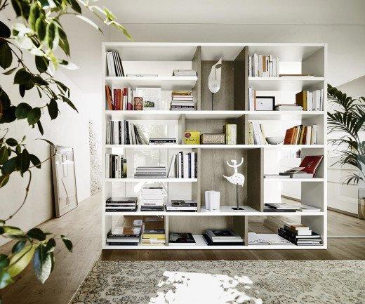 Exklusives Livitalia Design Raumteiler Bücherregal C87