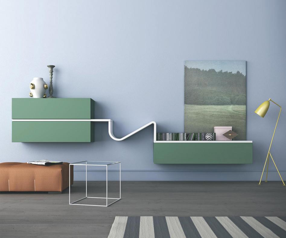 Novamobili wave designer wohnwand gd 218 - Wohnwande exklusiv ...