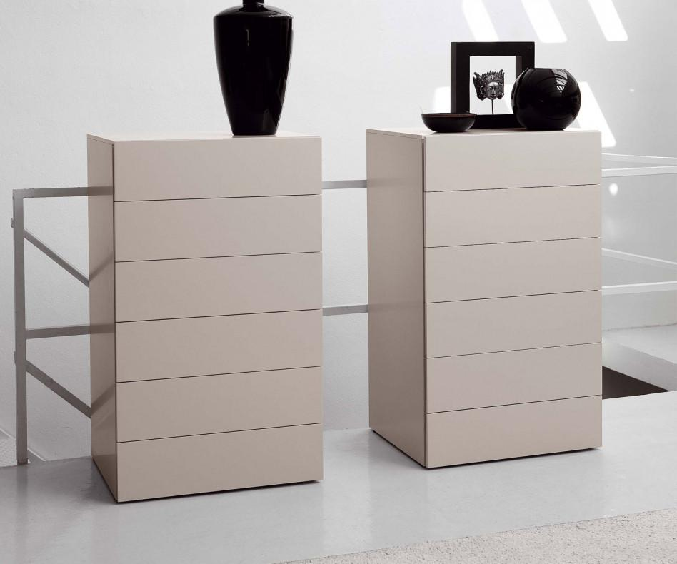 novamobili kommode easy 6 schubladen ohne griffe. Black Bedroom Furniture Sets. Home Design Ideas