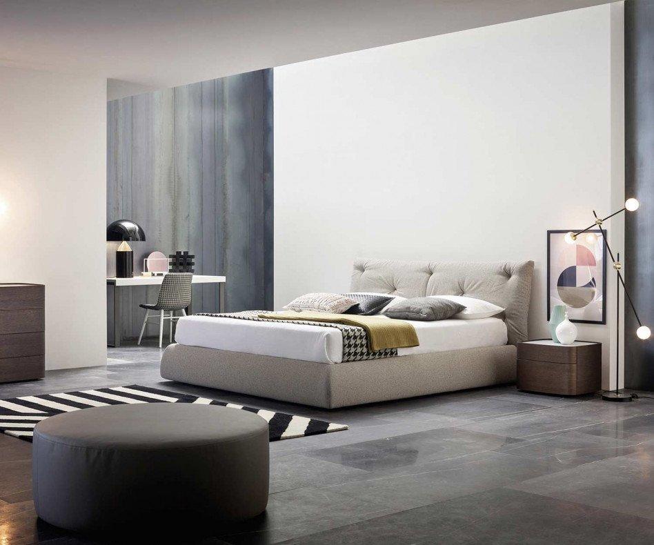 Novamobili Polsterbett Modo im Zimmer in emotionaler Atmosphäre
