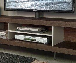 Modernes LIvitalia Open Design Lowboard im Detail offenes Regal für Hifi Geräte