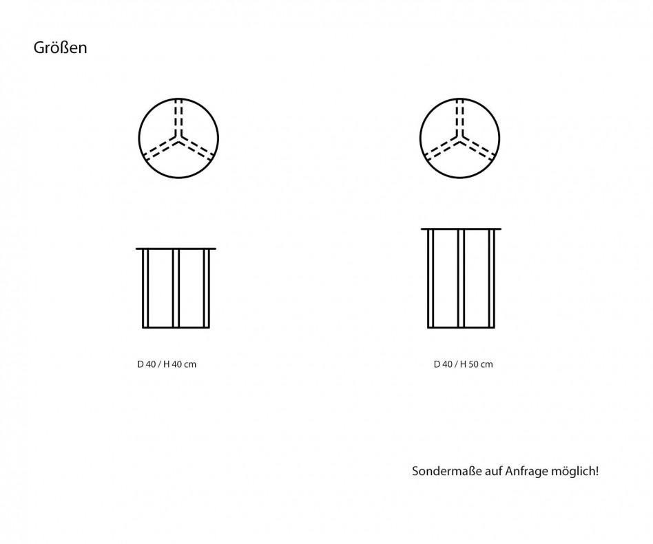 Moderner Marelli Beistelltisch Clip messing gebürstet