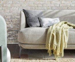 Novamobili Sofa Velvet Detail Metallfüße