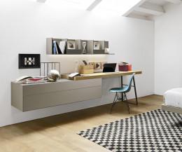 Livitalia Ecletto Wandkommode mit Wand Schreibtisch