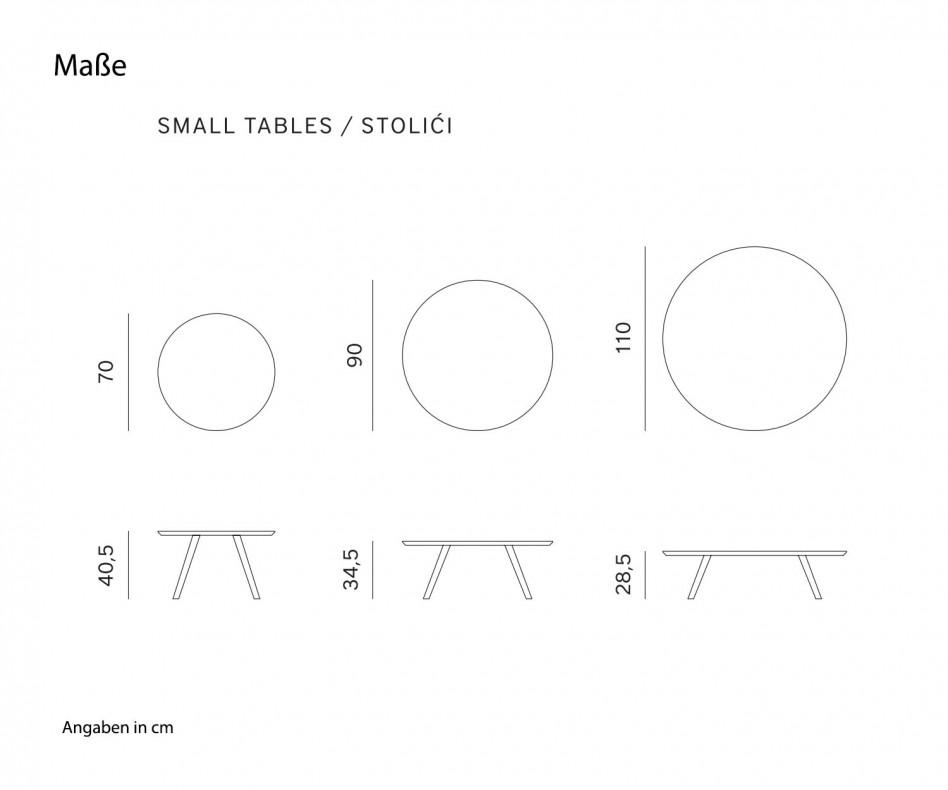Hochwertiger Prostoria Design Beistelltisch Oblique in Weiss