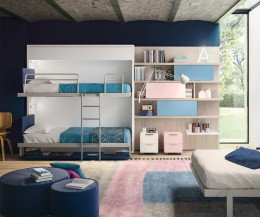 Kinderzimmer Etagenbett für Wandmontage
