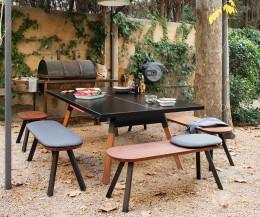 RS Barcelona Ping Pong Bank Outdoor Schwarz