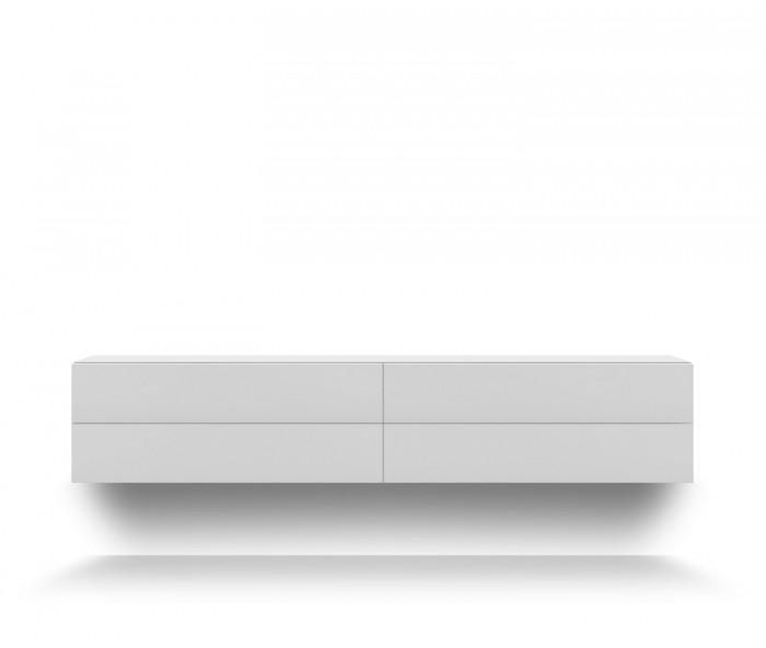 h ngekommode wei novamobili easy 4 schubladen. Black Bedroom Furniture Sets. Home Design Ideas