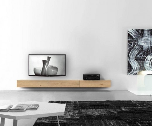 Exklusiver Livitalia Holz Design Lowboard Konfigurator 270 cm Eiche Hell