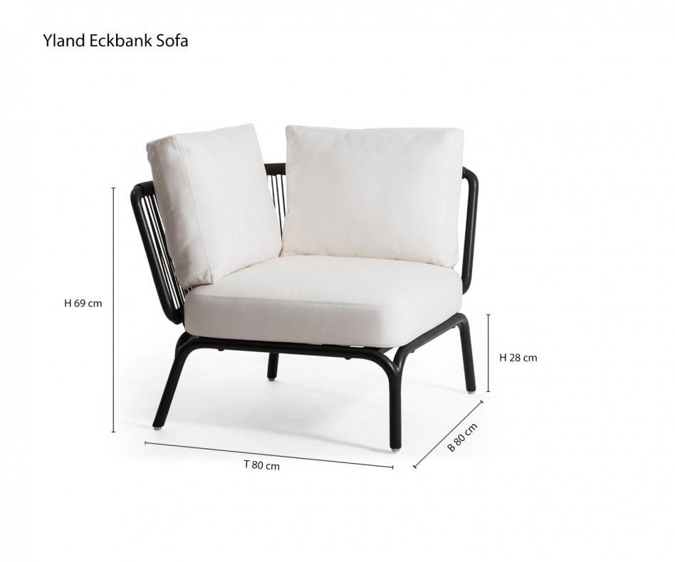 Hochwertiges Oasiq Yland Eckbank Design Sofa mit dem Yland 2-Sitzer-Sofa