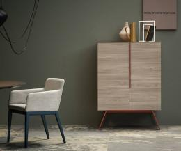 Novamobili Highboard Cleo in Ulme Hell