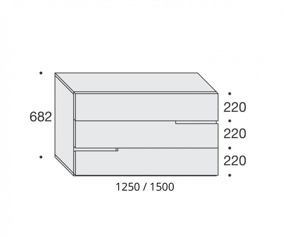 Livitalia Tacca Design Kommode B150 Weiss Matt