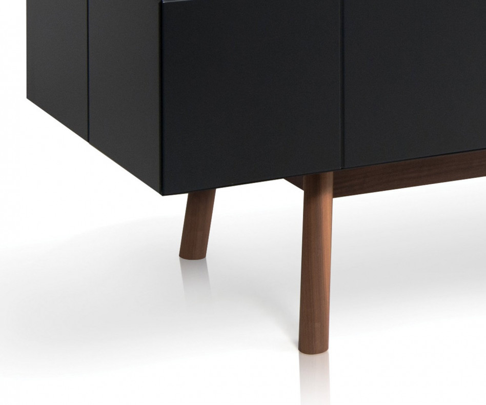 Exklusives al2 Design TV Lowboard MOS-I-KO 005 B in Schwarz lackiert