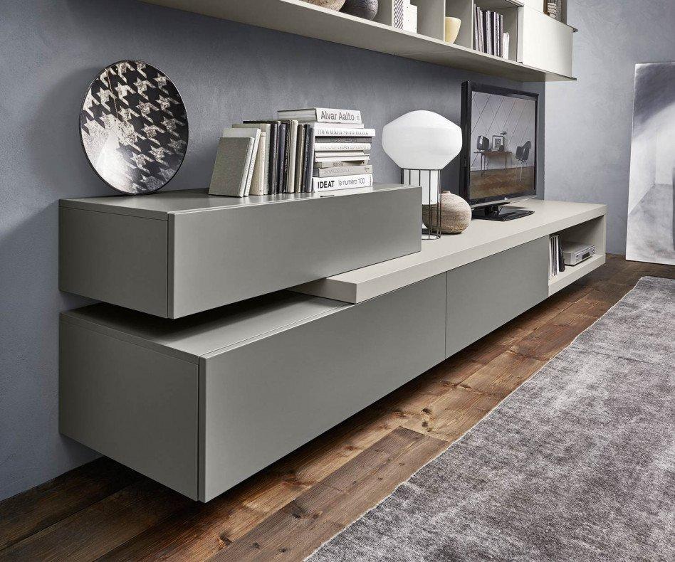 Exklusive Livitalia Design Wohnwand C16 mit Lowboard und Hägneschränken
