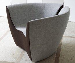 Hochwertiger spHaus Designer Loungesessel Apple in Grau