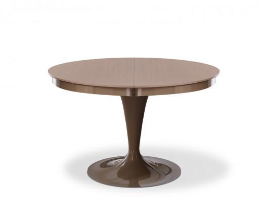 Ozzio Tisch rund Eclipse Weiß Glas
