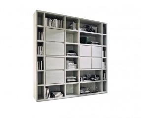 FGF Mobili WS27 Bücherregal massivholz parawood regal standregal wohnzimmer arbeitszimmer weiß lasiert
