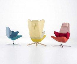 Hochwertiger Prostoria Trifidae Design Sessel Ohrensessel Lounger