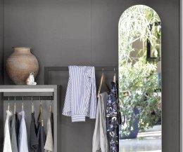 Hochwertiger Design Kleiderschrank Novamobili Move Nische mit Spiegel