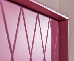 Hochwertiges al2 Design Highboard e-klipse 009 Pink Details Rautenmuster