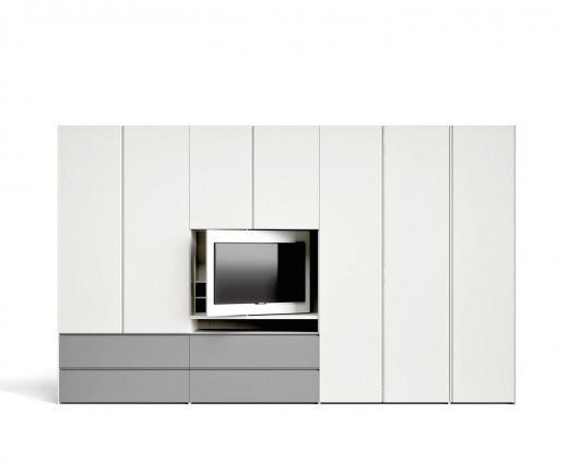 Design Kleiderschrank TV Fach Element