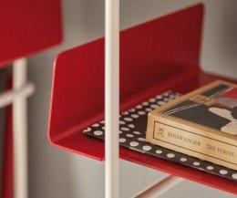 Libro vertikales Wand Bücherregal Ablage Rot