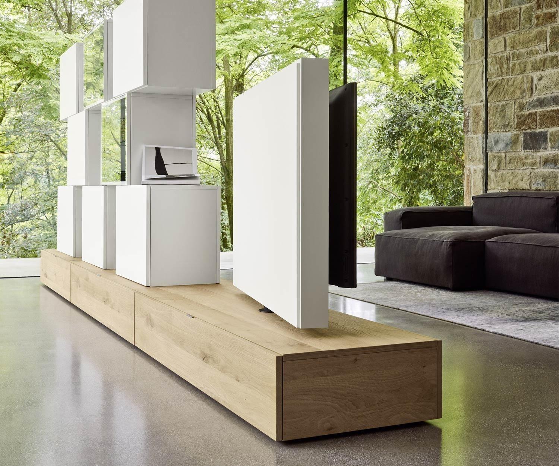 Design raumteiler wohnwand c46 drehbaren tv paneel - Raumteiler tv wand ...