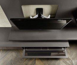 Moderne Livitalia Design Wohnwand C54 mit verstellbarer TV Halterung