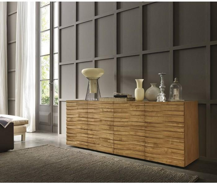 fgf mobili massivholz sideboard wave mit ohne glasfu. Black Bedroom Furniture Sets. Home Design Ideas