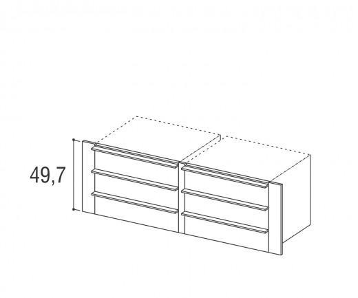 Novamobili Kleiderschrank-Zubehör Armadi 3er-Doppelschubladen