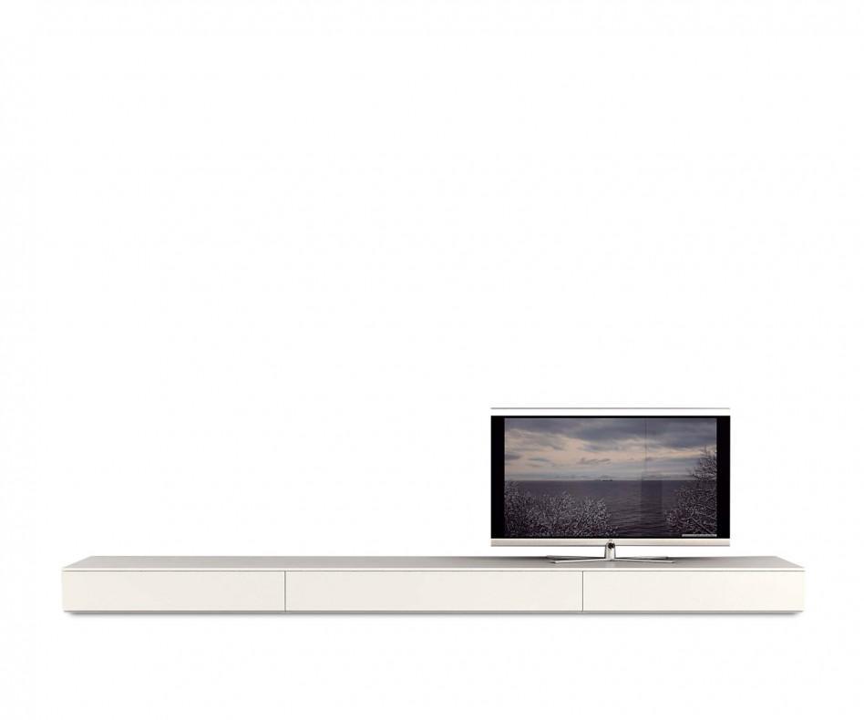 novamobili flaches lowboard b 300 cm mit klappt r. Black Bedroom Furniture Sets. Home Design Ideas