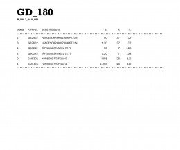 Novamobili Wohnwand Maße GD_180
