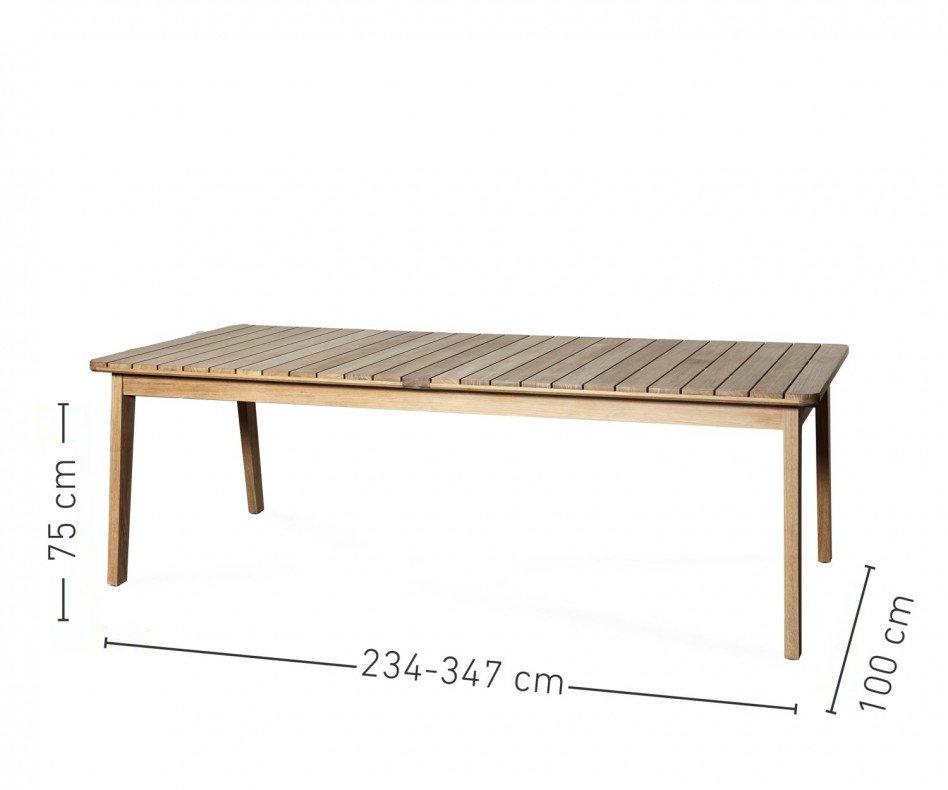 Moderner Oasiq Skagen Teak Design Terrassentisch für bis zu 6 Personen