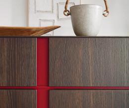 Livitalia Abaco Sideboard Griffkerbe Rot