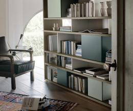 Livitalia Bücherregal C83 mit Boxen