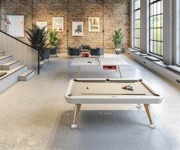 Design Billardtisch Diagonal für die Lounge