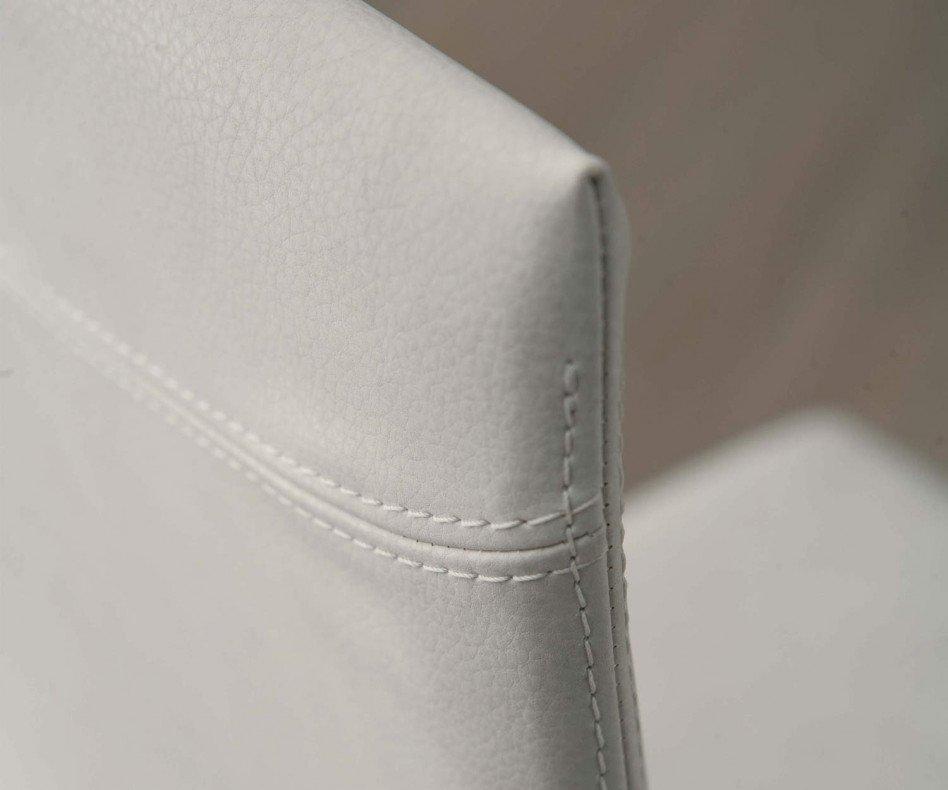 Ozzio Stuhl Blitz mit Leder gepolstert Schwarz Weiß