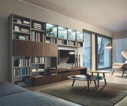 Holz TV Lowboard für große Fernseher