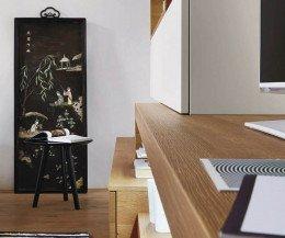 Moderne Livitalia Design Wohnwand C25 in unterschiedlichen Tiefen