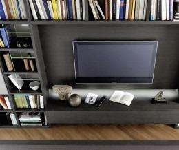 Design Bücherregal C54 mit TV Modul