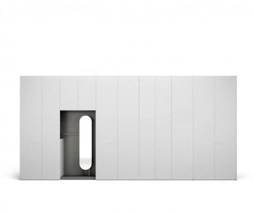 Moderner Designer Kleiderschrank für Flur mit offener Garderobe