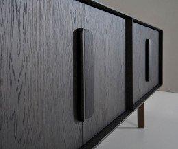 Hochwertiges AL2 Mobius 003 Sideboard Detail Türfront Eichen Furnier