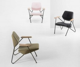 Prostoria Design Sessel Polygon in Grün, Rose und Grau